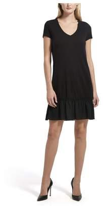 ATM Anthony Thomas Melillo Ruffle Hem Slub Jersey Dress