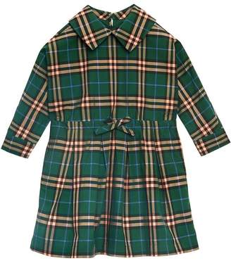 Burberry Check Cotton Drawcord Dress