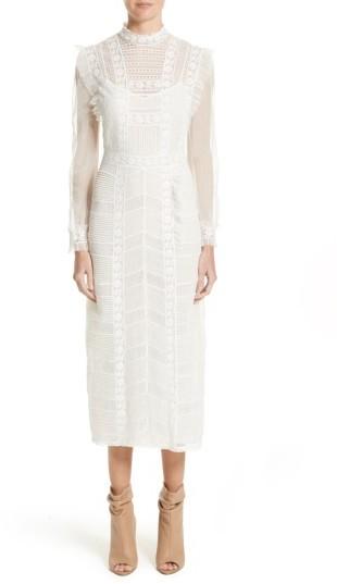 Women's Burberry Chanella Lace Midi Dress