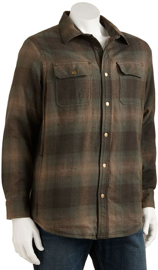 Croft & barrow ® plaid flannel shirt jacket - men