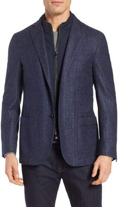 Corneliani Classic Fit Herringbone Wool & Silk Sport Coat