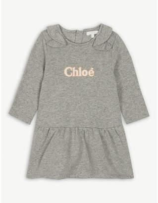 Chloé Ruffled collar cotton jersey dress 6-36 months