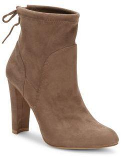 Semi Heeled Merlot Boots $99 thestylecure.com