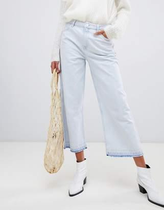 Pepe Jeans Wide Leg Crop Jean with Undone Hem