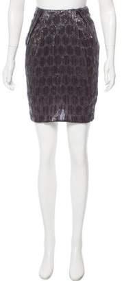 Zac Posen Textured Metallic Skirt