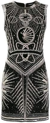 Balmain sleeve-less embellished mini dress