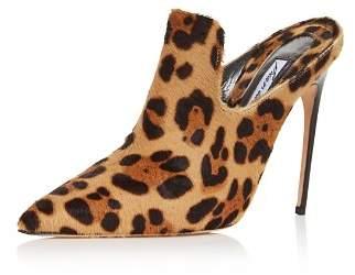 Brian Atwood Women's Liason Leopard Print Calf Hair High-Heel Mules