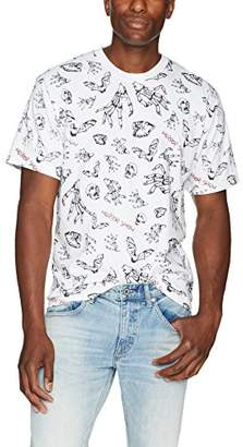 The Kooples Men's Men's Printed Short Sleeve T-Shirt with Horror Motif