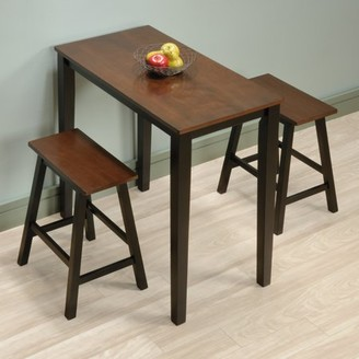 Sauder Beginnings 3 Piece Counter Height Dining Set, Cherry Finish