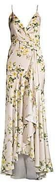 Jay Godfrey Women's Edna Floral Ruffled Slip Gown