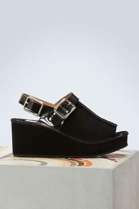 Kenzo Suede wedge sandals