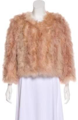 Jocelyn Collarless Feather Jacket