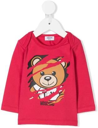 Moschino Kids teddy bear print T-shirt