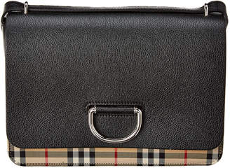 Burberry Medium D-Ring Vintage Check & Leather Shoulder Bag