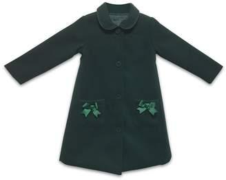 Joe-Ella Timeless Forest Green Pea Coat (Little Girls & Big Girls)