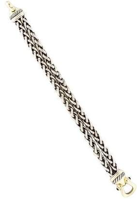 David Yurman Onyx Double Wheat Chain Buckle Bracelet