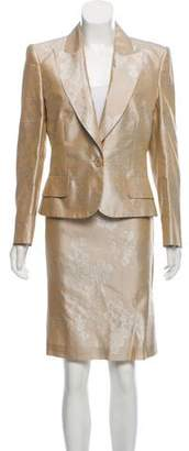 Valentino Silk Skirt Suit