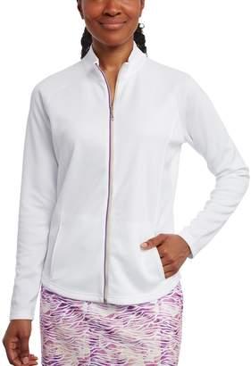 Women's Pebble Beach Embossed Interlock Full-Zip Golf Jacket