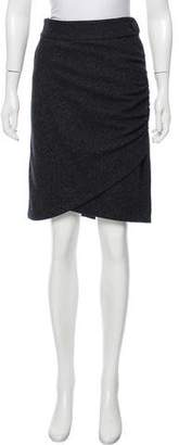 Robert Rodriguez Ruched Knee-Length Skirt