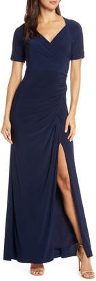 Adrianna Papell Ruched Jersey Gown
