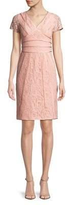 NUE by Shani Short-Sleeve Lace Sheath Dress