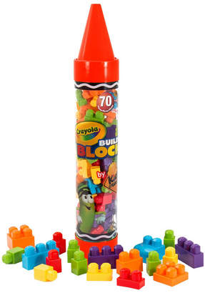 "Crayola Kids At Work 70 Piece Block Set in A 36"" Giant Crayon"