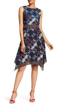 Amelia Floral Handkerchief Hem Dress