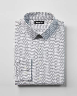Express Extra Slim Fit Geo Print Dress Shirt