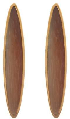 Soko Jicho Natural Stone Oval Drop Earrings