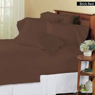 Living Cal King & Co 600TC 100% Egyptian Cotton 6PCs Sheet Set Solid(Pocket Size: 21 inches)
