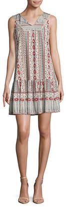 Style&Co. STYLE & CO. Petite Printed Ruffle Sleeveless Dress