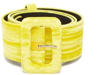 ATTICO Velvet Belt - Womens - Yellow