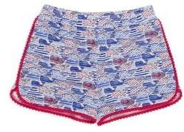 Vineyard Vines Little Girl's& Girl's Stars& Stripes Knit Shorts