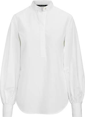 Ralph Lauren Blouson-Sleeve Cotton Shirt