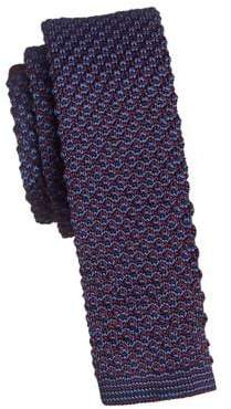 Black Brown 1826 Knit Multicoloured Slim Tie