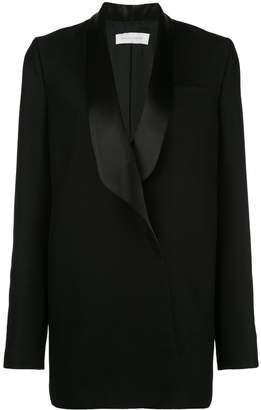 Marina Moscone oversized contrast blazer