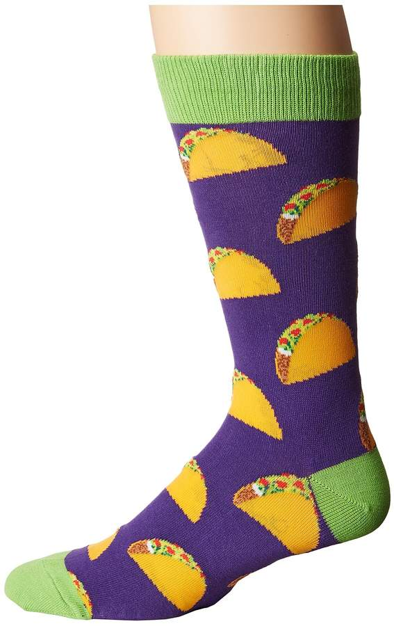 Socksmith Tacos Extended Size Men's Crew Cut Socks Shoes