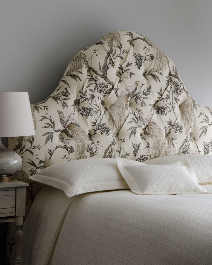 """Horchow """"Claxton"""" Tufted Queen Headboard"""