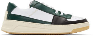 Acne Studios Green and White Perey Sneakers