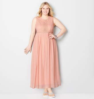 Avenue Lace Crinkle Maxi Dress