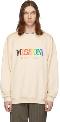 Missoni Beige Rainbow Logo Sweatshirt