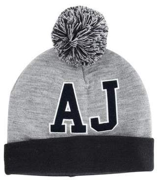 Armani Junior Boys' Logo Pom-Pom Hat