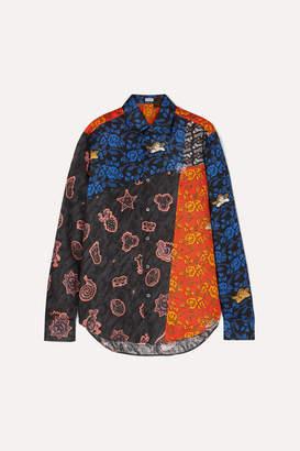 Loewe Paula's Ibiza Patchwork Printed Linen Shirt - Black