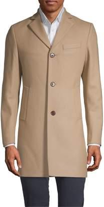 J. Lindeberg Notch Lapel Wool Blend Coat