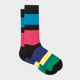 Men's Multi-Coloured 'Cycle Stripe' Socks $30 thestylecure.com