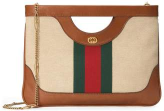 Gucci Large vintage canvas shoulder bag