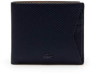 Lacoste Men's Chantaco Monochrome Coated Leather Wallet With Card Holder