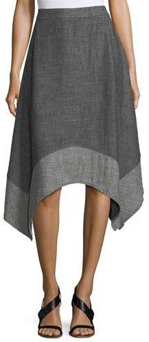 Trina Turk Chambray Handkerchief A-Line Skirt