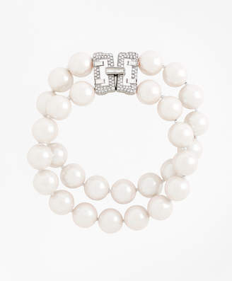 Brooks Brothers Double-Strand Glass Pearl Bracelet