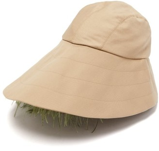 Preen by Thornton Bregazzi Naomi Feather Trimmed Bucket Hat - Womens - Beige
